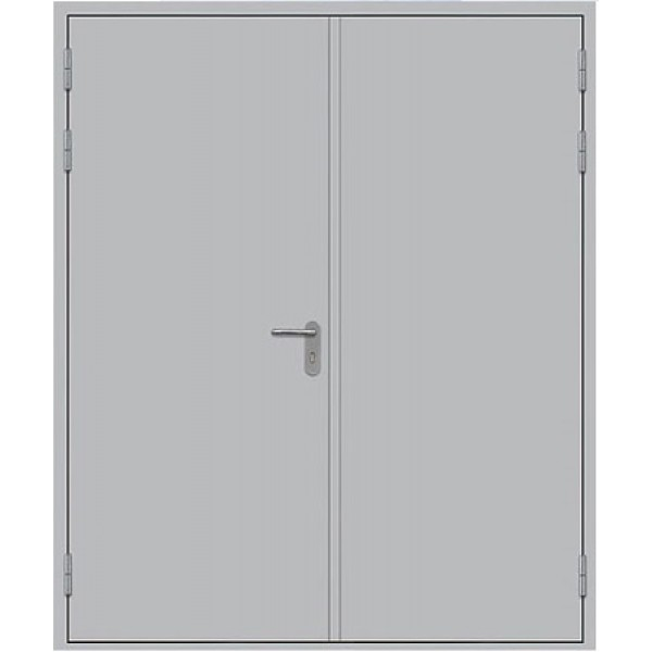 Металлическая противопожарная дверь двупольная глухая ДПМ-2Г
