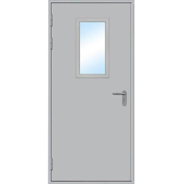 Противопожарная дверь однопольная остекленная ДПМ-1 О