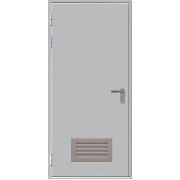 Металлическая противопожарная дверь ДПМ-1ГВ
