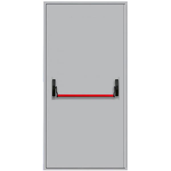 Металлическая противопожарная дверь однопольная с антипаникой ДПМ-1Г