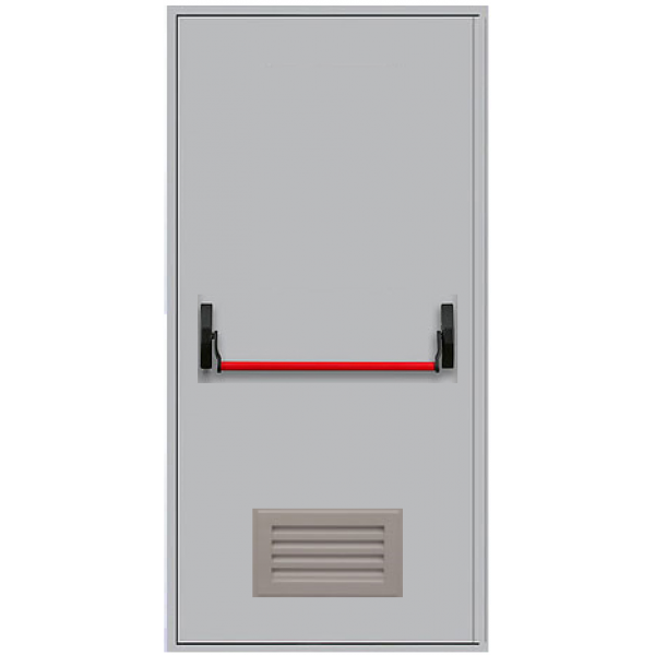 Металлическая противопожарная дверь с антипаникой ДПМ-1ГВ