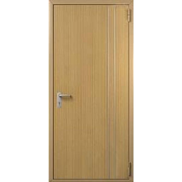 Дверь противопожарная металлическая ДПМ-1 Г однопольная глухая с отделкой МДФ