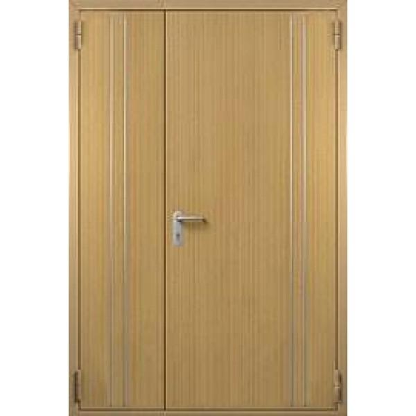 Дверь противопожарная металлическая ДПМ-1,5 Г полуторная глухая с отделкой МДФ