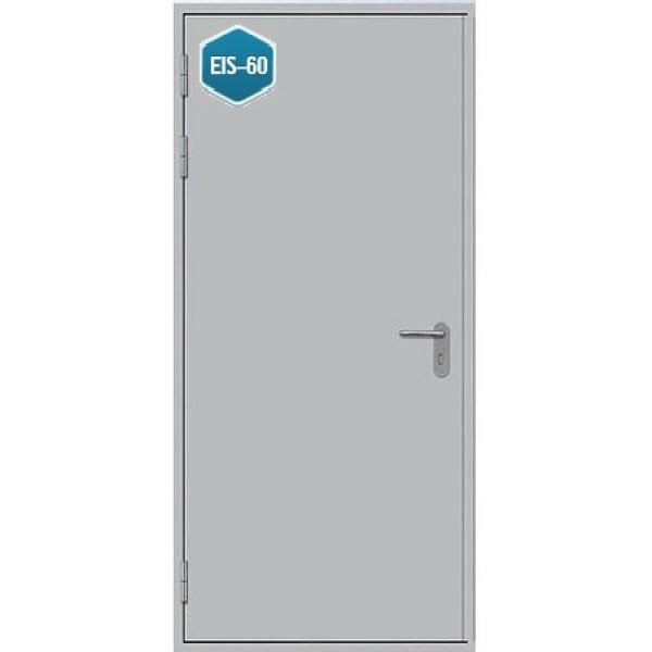 Дверь противопожарная металлическая дымогазонепроницаемая ДПМ-1 Г EIS-60 однопольная глухая