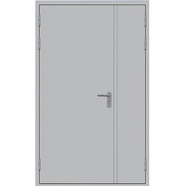 Металлическая противопожарная дверь двупольная глухая ДПМ-1,5 Г