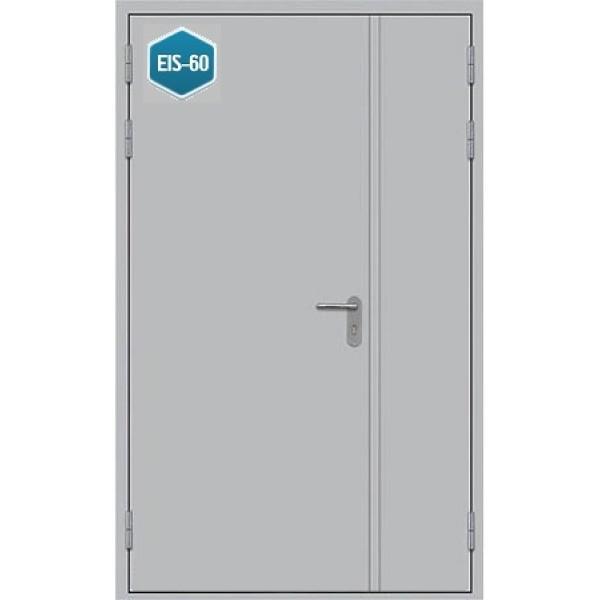Дверь противопожарная металлическая дымогазонепроницаемая ДПМ-1,5 Г EIS-60 полуторная глухая