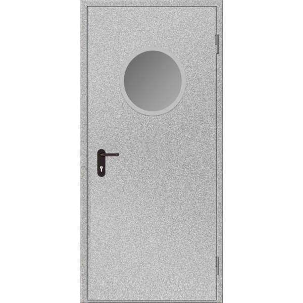 Дверь противопожарная металлическая дымогазонепроницаемая ДПМ-1 О EIS60 однопольная остекленная